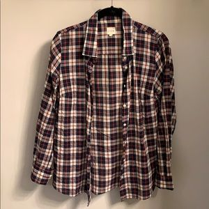 Classic red white and blue flannel from J.Crew